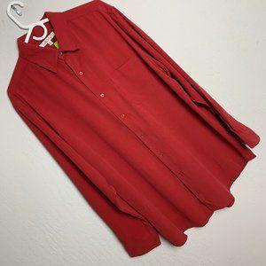 NEW Travelsmith Men's  L Silk Long Sleeve Shirt